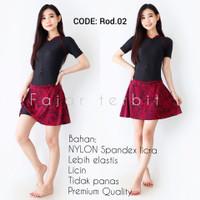 baju renang wanita dewasa rok motif pakaian diving perempuan pendek