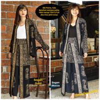 Setelan Batik Wanita Cardigan Celana Wanita - Big Parang Wayang