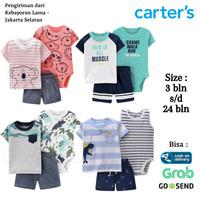 CARTERS Baju Set 3in1 Jumper Kaos Celana Anak Bayi Perempuan Laki 4