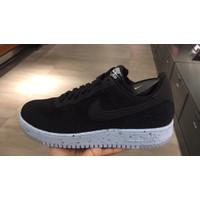 Sepatu Pria Nike Air Force 1 Crater Flyknit Black/Chambray Blue/Black
