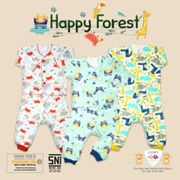 Happy baby - Libby Stelan Panjang Baju Bayi/ Libby New Born ( 0-3 bln)