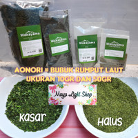 Bubuk rumput laut aonori nori seaweed powder takoyaki okonomoyaki