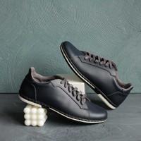 Sneakers Kulit Pria - Winshor - Azure Dark Navy