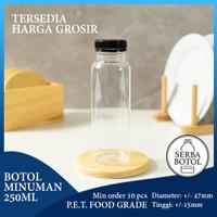 Botol Plastik 250ml + Tutup (Kode: BM250)