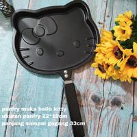 TEFLON PANCAKE TELOR PANFRY FRYING PAN LUCU KEPALA HELLO KITTY LARGE