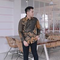 Baju Batik pria kemeja batik cowo cowok lengan panjang pekalongan BX19 - S