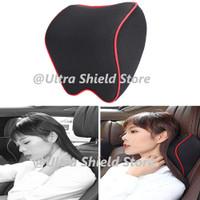 Headrest Bantal Leher Mobil Memory Foam Car Neckrest Premium Quality