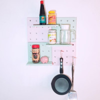 [ COD ] Pegboard kayu ( Bukan Plastik ), papan dekor, dapur dan kamar