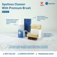 Sabun Cuci Sepatu Shoe Cleaner Spotless 250 ml + Sikat Premium Brush