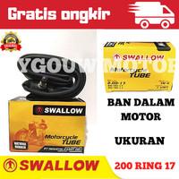 Ban dalam motor merek swallow ukuran 200 ring 17