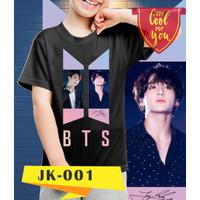 Kaos/baju anak BTS - JEON JUNGKOOK - 001 (size anak 8 - 10 tahun)