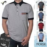 Kaos Polo Shirt Pria Big Size Kerah Wangki Golf Original - NORSK