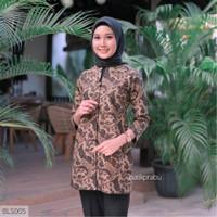 Baju Batik Wanita Dress Batik Atasan Batik Wanita Blouse Kantor GW09 - 5L