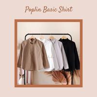 Poplin Basic Shirt Mylika / Kemeja Polos / Kemeja Katun / Kemeja Wanit