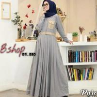Baju Gamis Wanita Muslim Perempuan Dewasa Terbaru Maxy Dress Toyobo Pr