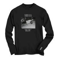 Kaos Tangan Panjang Distro Pria Band Nirvana 2 Premium Size S - 7XL - S