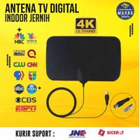 Antena TV Digital Indoor Terbaik Super Jernih DVB-T2 4K High Gain 25dB