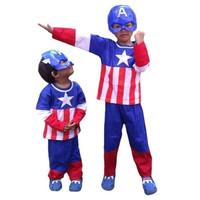 Baju Captain America dan Topeng Anak Captain America / Kostum Anak - 2 TAHUN