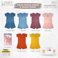 Libby Earth Series Setelan Oblong Pendek Celana Pendek Baju Anak 1pcs