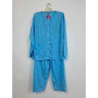 Baju Tidur/Piyama/BabyDoll Wanita Stelan PP Jumbo XXXL, Dreamy - Biru Muda