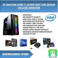 PC RAKITAN CORE I7 10700F BEST FOR MULTIMEDIA EXCLUDE MONITOR