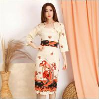 dress shanghai baby doll baju imlek batik