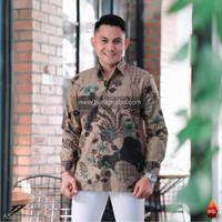 Baju batik pria kemeja batik cowok pria lengang panjan pendek keris 96