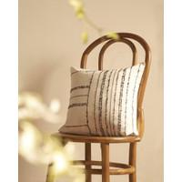 Lana Daya – Ondel-ondel Paper Yarn Handwoven Pillow Monochrome