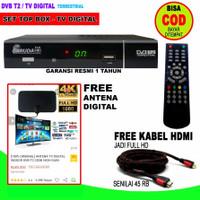 SET TOP BOX FREE ANTENA TV DIGITAL FREE KABEL HDMI COMPACT DESIGN