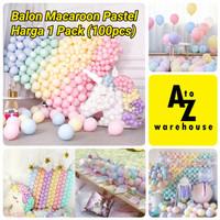 Balon Macaron 100 Pcs Balon Latex Macaron Balon Pastel 10 Inch Mix
