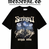 KAOS Band SERINGAI - Baju METAL SERIGALA MILITIA PRIA / DEWASA / HITAM