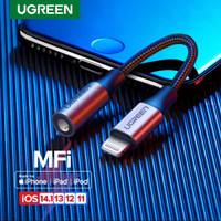 Ugreen Iphone Converter Lightning Mfi to Aux 3.5mm Support Mic Audio