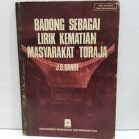 Buku Original Badong Sebagai Lirik Kematian Masyarakat Toraja By JS Sa