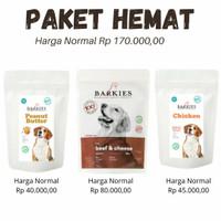 Barkies Paket Promo Mei Juni Dog Treats / Snack Anjing / Cemilan Anji