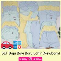 Paket set baju bayi baru lahir baby newborn laki 0 3 6 bulan murah sni