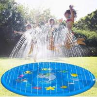 kolam air mancur anak water spray pad - BABY SHARK DAN BINTANG LAUT