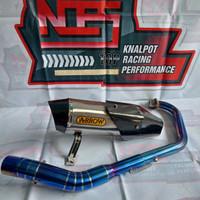 Knalpot Arrow tameng nmax aerox Lexi PCX ADV Vario header biru