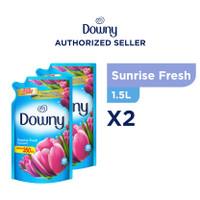 Downy Pelembut & Pewangi Pakaian Sunrise Fresh Refill 1.5L x2