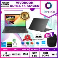 Asus Vivobook Ultra 15 K513EQ i5 1135G7 8GB 512ssd MX350 2GB W10+OHS