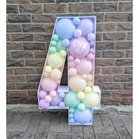 Rangkaian Balon Mozaic Angka Huruf 3D Standing JUMBO