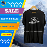 Kaos Pendaki Gunung Pria Distro Cowok Make Your Own Adventure Terbaru - Hitam, M