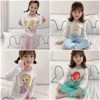 piyama baju tidur panjang anak perempuan Princess Frozen mermaid lucu