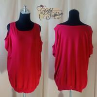 Baju Rajut Merah Atasan Lengan Bolong (OFSA-060)