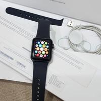 apple watch series 3 size 38mm grey black resmi iBox