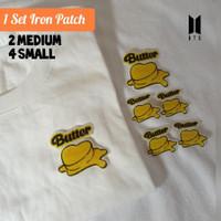 iron patch BTS BUTTER - bisa Tempel di Kaos /Sweater /tas /sepatu