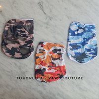 (B72) Baju kaos kostum army anjing kucing tipis hewan pet dog clothes