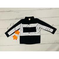 [2 - 8 Tahun] Baju Kemeja Jalan Bayi Anak Hitam Kotak Putih EOBaby H11 - 100