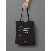 Tote Bag Totebag Hitam Recoffeery - Bahan Baby Canvas Premium
