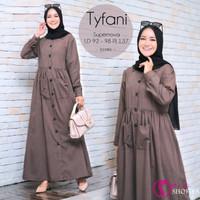 Baju Wanita Terbaru Gamis Katun Polos Elegan Tyfani by Shofiya