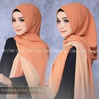 Pashmina Bobal Soft Pad Hijab Jilbab Pashmina Ceruty Babydoll Terbaru